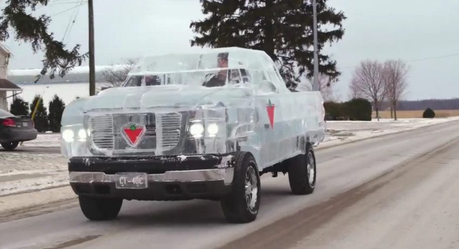 Photo of Canadian Tire Built A Truck Out Of Ice To Show Off Their New Battery (Video)