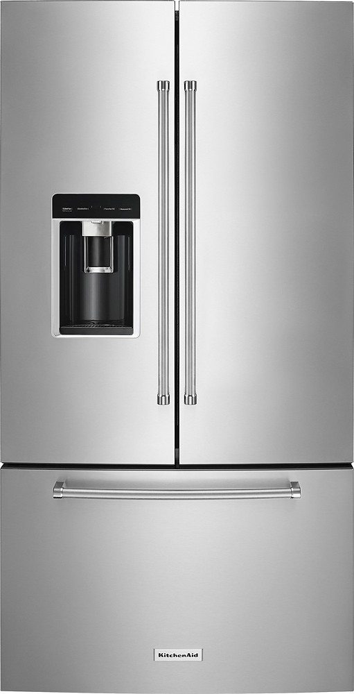 KitchenAid - 23.8 Cu. Ft. French Door Counter-Depth Refrigerator