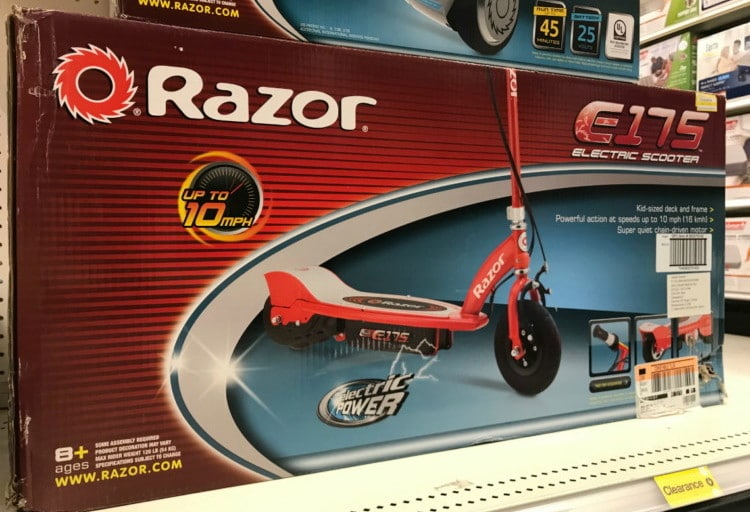 Electric Scooter Costs in Target